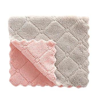 20 Piece set of super absorbent multifunctional soft micro fibre kitchen dish towels(Pink Grey)