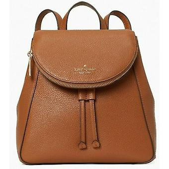 Kate Spade Leila Coral Pebbled Leather Flap Sac à dos WKR00327