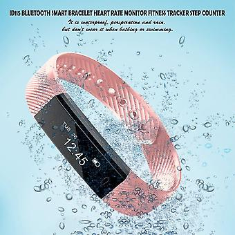 Id115 Bluetooth Smart Bracelet Heart Rate Monitor Fitness Tracker Step Counter