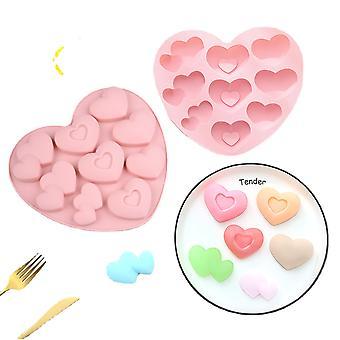 Mini 3D Silikon Herz Geformte Süßigkeiten Formen, Diy Schokolade, Küche Backzubehör