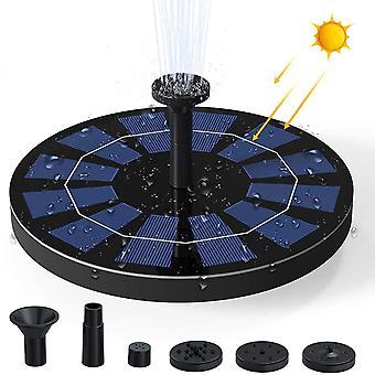 2.5w Solar Powered Fountain Pump For Bird Bath  For Pool, Garden, Pond, Water Circulation