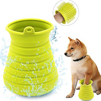 Pet Supplies Dog Paw Cleaner, All Silicone, Massage On Both Sides (a)