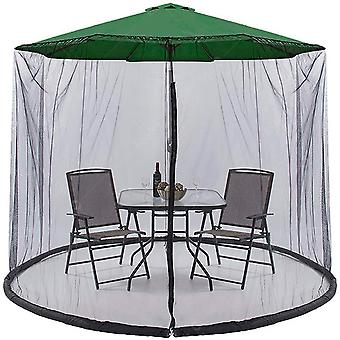 Silktaa Parasol Mosquito Net Tente Suspendue Avec Porte Zipper Et Corde Réglable