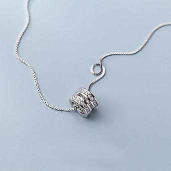 Real 100% 925 Sterling Silver Box Chain Choker For Women Gift|Necklaces