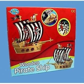 Maak uw eigen houten piratenschip
