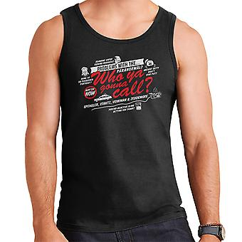 Better Call The Boys In Grey Ghostbusters Men's Vest