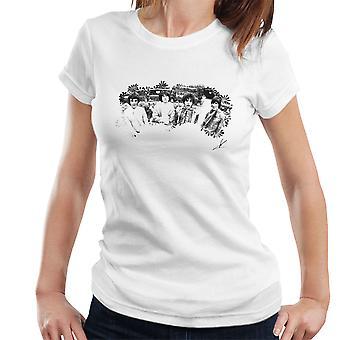 T-shirt Pink Floyd Ruskin Park Shoot 1967 floreale bianco e nero donna