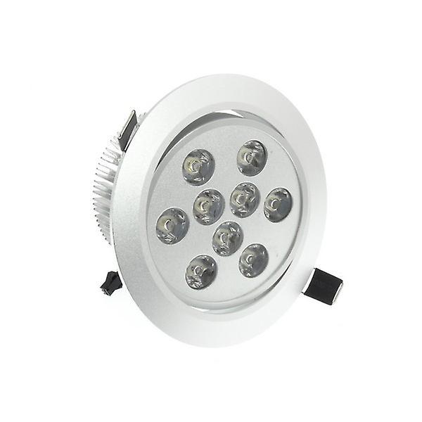 I LumoS High Quality Epistar 9 Watts Silver Circle Aluminium Pure White LED Tiltable Recessed Spot Down light