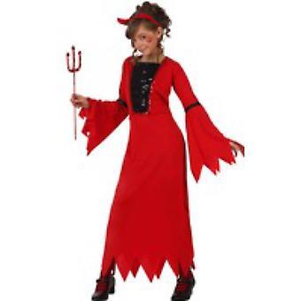 Børns kostumer Demonia djævel kjole kostume til piger