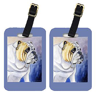 Carolines Treasures  7028BT Pair of 2 English Bulldog Luggage Tags