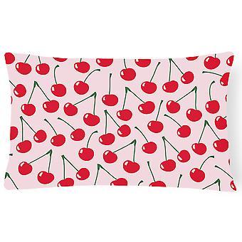 الكرز في الوردي قماش نسيج ديكور وسادة