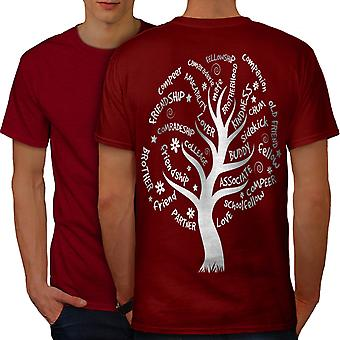 Tree Friend Life Men RedT-shirt Back | Wellcoda