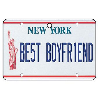 New York - Best Boyfriend License Plate Car Air Freshener