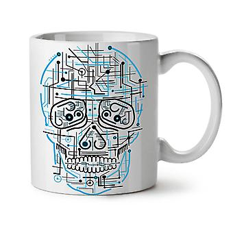 Head Face Panel Skull NEW White Tea Coffee Ceramic Mug 11 oz | Wellcoda