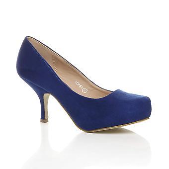 Womens Ajvani bas mi pompes talon dissimulé chaussures de plate-forme travail judiciaire formel