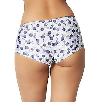 Sans Complexe 409792 Women's Oceane Storm Blue Spotted Knickers Panty Brief