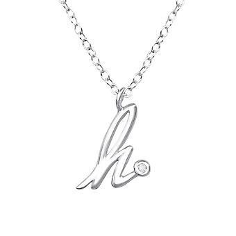 «h» - plata de ley 925 Jewelled collares - W36574x