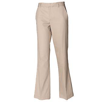 Henbury Ladies Flat Front Trousers