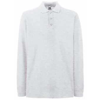 Fruit of the Loom Mens Premium Colours Long Sleeve Cotton Polo Shirt