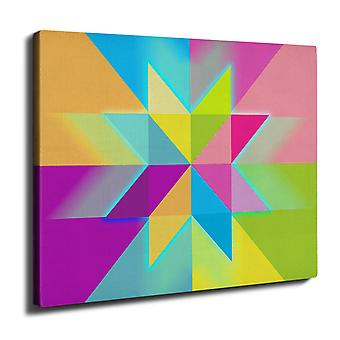 Ornament Star Wall Art Canvas 40cm x 30cm | Wellcoda