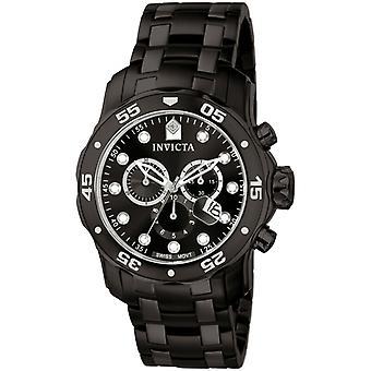 Invicta Pro Diver 0076 ruostumattomasta teräksestä Chronograph Watch