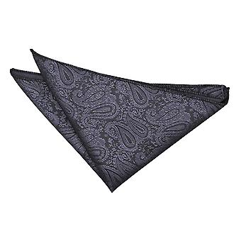 Charcoal Grey Paisley Einstecktuch