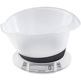 Soehnle Olympia Plus Digital keittiövaakaa digital + painaa tarjotin painoalueen = 5 kg valkoinen