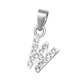 """""""w"""" - 925 Sterling Silver Pendants - W37692x"""