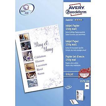 Avery-Zweckform Superior Inkjet Papier 2579-100 Inkjet printerpapier A4 150 g/m² 100 vel Wit