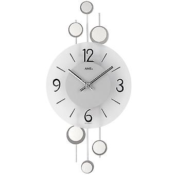 Wall clock quartz wall clock decorative metal pads mineral crystal quartz clock