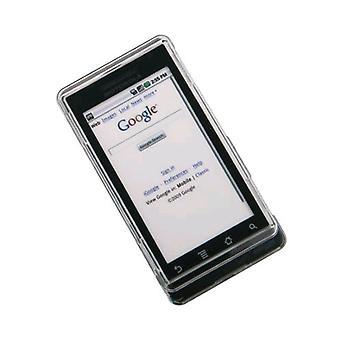 Verizon Motorola Droid A855 Snap-On Suojakotelo (kirkas) (Bulk pakkaus)