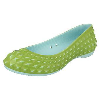 Damen Crocs Ballerina Schuhe Super Modell Flat
