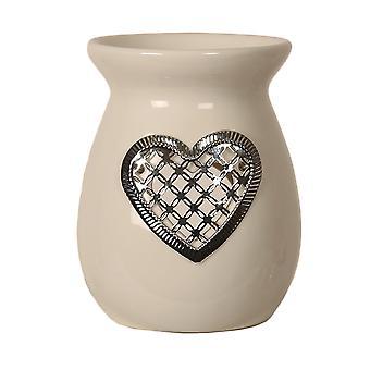 Aroma Silver hjärta smälter brännare, 13,5 cm