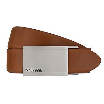 ROY ROBSON belts men's belts leather belt automatic buckle Cognac 7612