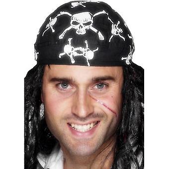 Smiffy's Pirate Bandanna Skull And Crossbones Design