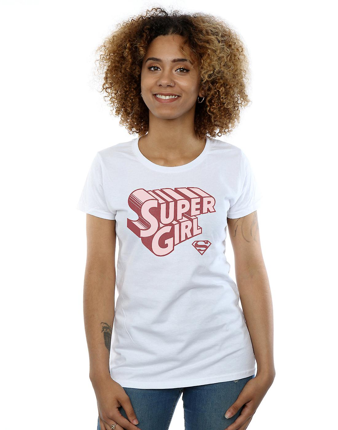 DC Comics Women's Supergirl Retro Logo T-Shirt