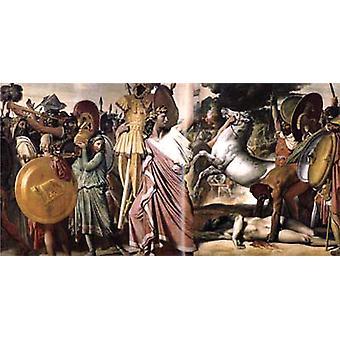 アクロン王の征服者としてのロムルス、ジャン・オーギュスト・ドミニク・イングレス
