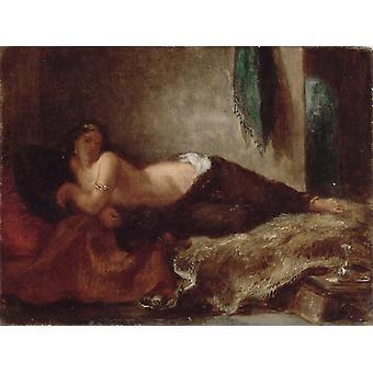 Odalisque,Eugene Delacroix,26x33cm