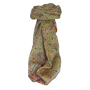 Amoreira seda tradicional lenço quadrado Bashia terracota por Pashmina & seda