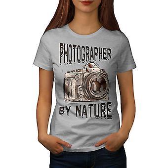 Photohrapher By Nature Women GreyT-shirt   Wellcoda