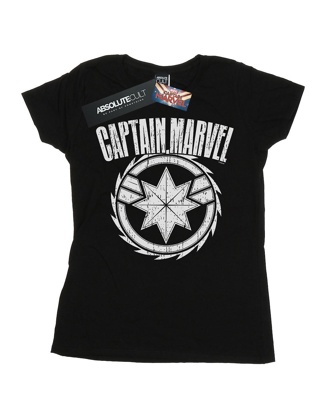 Marvel Women's Captain Marvel Blade Emblem T-Shirt
