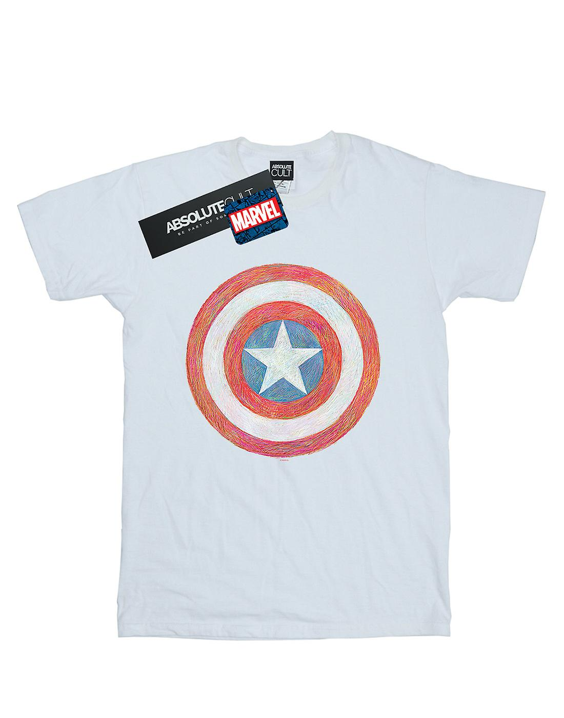Marvel Girls Captain America Sketched Shield T-Shirt