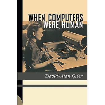 Wanneer Computers waren menselijke