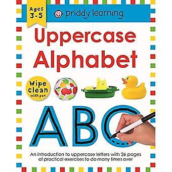 Hoofdletter alfabet: Veeg schoon werkmappen (veeg schoon werkmappen)
