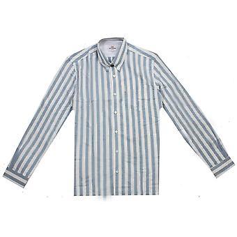 Ben Sherman Oxford Ivy Stripe Shirt - Jazzy Blue/White