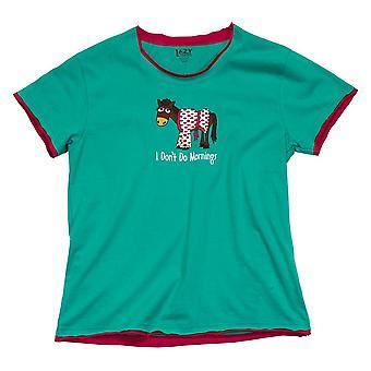 LazyOne Womens/Ladies Don`t Do Mornings Horse PJ T Shirt
