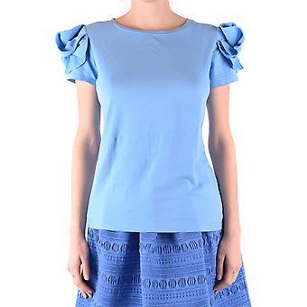 Pinko Ezbc056255 Kvinder's Lyseblå Bomuld T-shirt