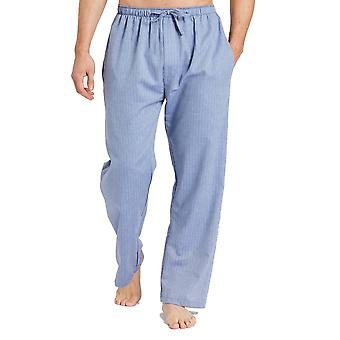 British Boxers Garrison Blue Herringbone Men's Pyjama Trousers
