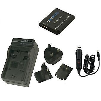 Dot.Foto Panasonic DMW-BCN10 - 3, 7V / 950mAh baterii i akumulatorów ładowarka podróży