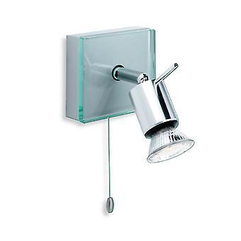 Firstlight-1 luz individual conmutada ligera aluminio, vidrio transparente-5512AL